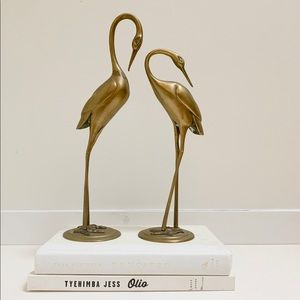 Other - Pair of Vintage Brass Cranes